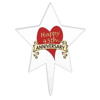 45th Anniversary Star Cake Topper
