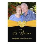 45th Anniversary - Faux Pocket -Custom Invitations