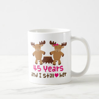 45th Anniversary Gift For Him Coffee Mug