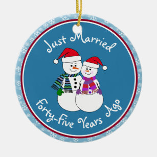45th Anniversary Christmas Ornaments Zazzle 100 Satisfaction Guaranteed