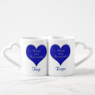 45th Anniversary Gift Ideas with NAMES and DATE Coffee Mug Set