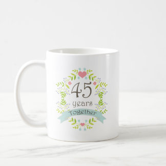 45th Anniversary Keepsake Beverage Coffee Mug