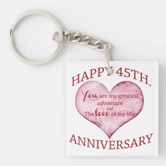 45th. Anniversary Keychain