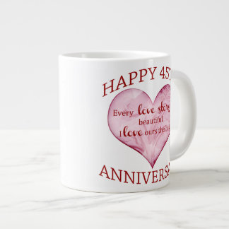 45th. Anniversary Large Coffee Mug