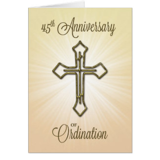 45th Anniversary of Ordination, Gold Cross Card