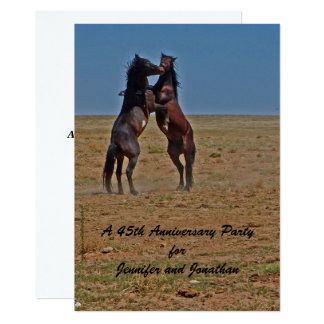 45th Anniversary Party Invitation Dancing Horses