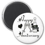 45th. Anniversary Refrigerator Magnets