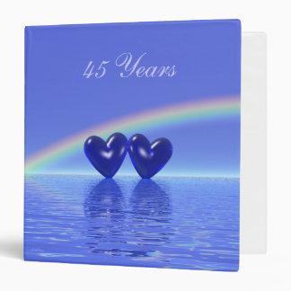 45th Anniversary Sapphire Hearts 3 Ring Binder