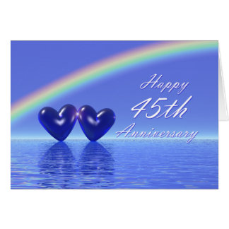 45th Anniversary Sapphire Hearts Cards