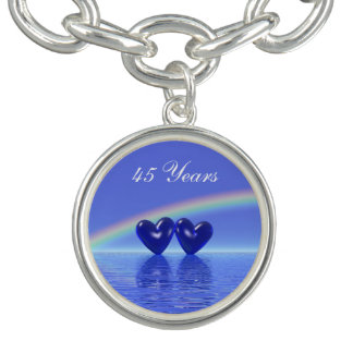 45th Anniversary Sapphire Hearts Charm Bracelets