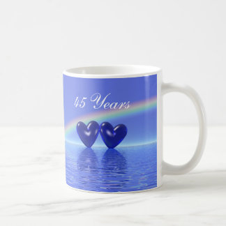 45th Anniversary Sapphire Hearts Coffee Mug