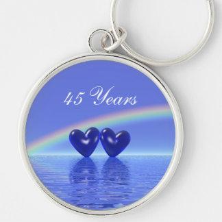 45th Anniversary Sapphire Hearts Keychain
