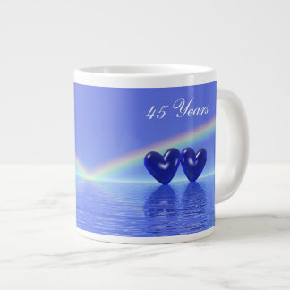 45th Anniversary Sapphire Hearts Large Coffee Mug