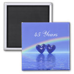 45th Anniversary Sapphire Hearts Refrigerator Magnets