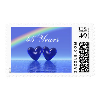 45th Anniversary Sapphire Hearts Postage