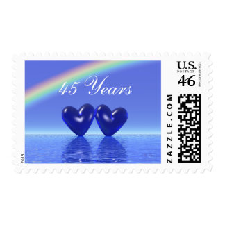 45th Anniversary Sapphire Hearts Stamps