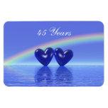 45th Anniversary Sapphire Hearts Rectangular Photo Magnet