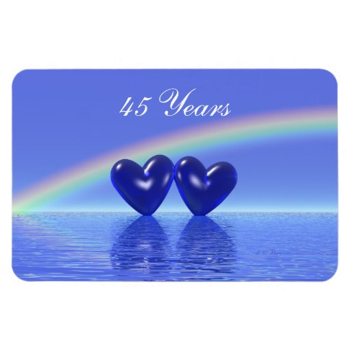 45th Anniversary Sapphire Hearts Flexible Magnets