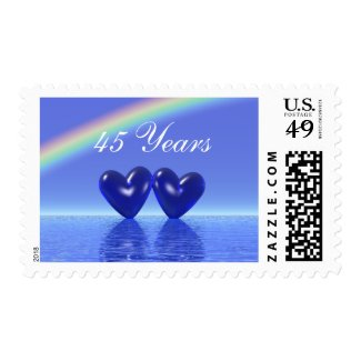 45th Anniversary Sapphire Hearts Stamp