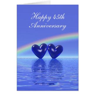 45th Anniversary Sapphire Hearts (Tall) Card