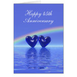 45th Anniversary Sapphire Hearts (Tall) Cards