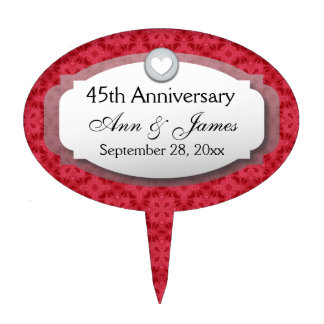 45th Anniversary Sapphire Red  Z28 Cake Topper