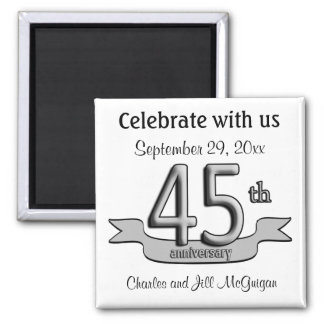 45th Anniversary Save The Date Party Favors Magnet