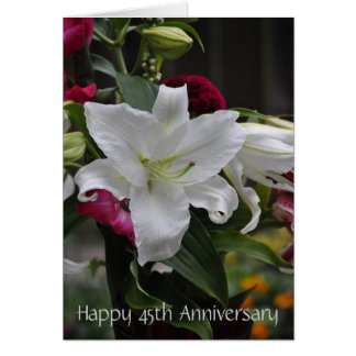 45th  Anniversary Template Greeting Cards