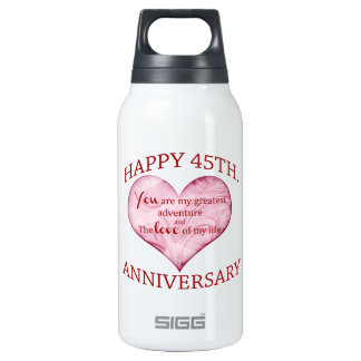 45th. Anniversary Thermos Bottle