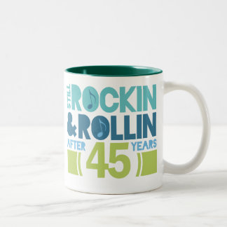 45th Anniversary Wedding Gift Two-Tone Coffee Mug