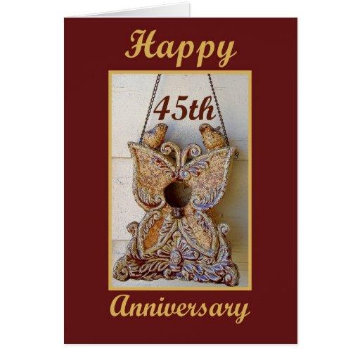 Th anniversary with love birds card zazzle