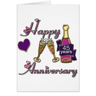 45th. Anniversry Card