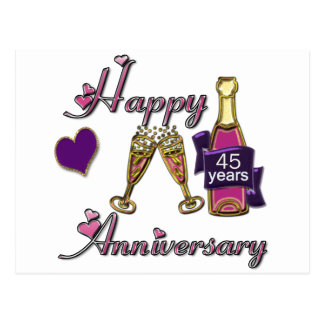 45th. Anniversry Postcard