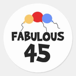 45th Birthday Stickers Zazzle