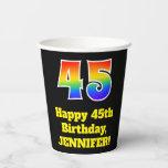 [ Thumbnail: 45th Birthday: Colorful, Fun, Exciting, Rainbow 45 ]