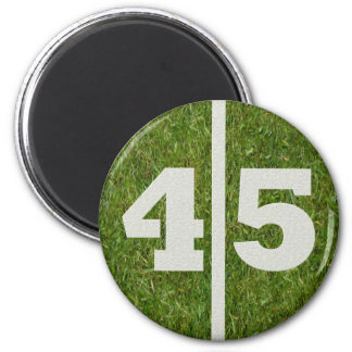 45th Birthday Football Yard Magnet