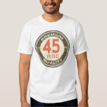 45th Birthday Funny Vintage 45 Year Old T Shirts