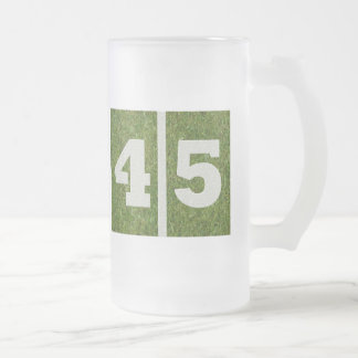 45th Birthday Glass Mug