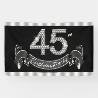 45th Birthday Party Banner