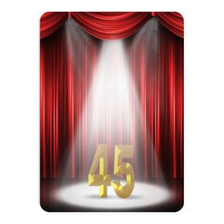 45th Birthday Party Card