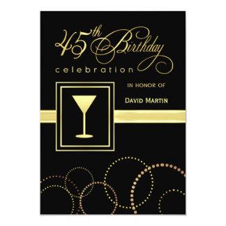 45th Birthday Party Invitations - Contemporary