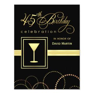 45th Birthday Party Invitations - with Monogram