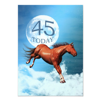 45th birthday Spirit horse party invitation