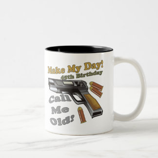 45th Birthday T-shirts and Gifts Two-Tone Coffee Mug