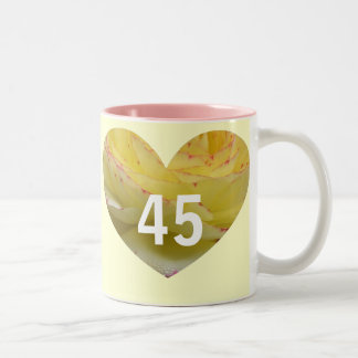 45th Birthday Two-Tone Coffee Mug