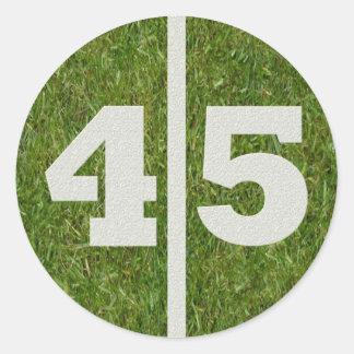 45th Birthday Yard Football Sticker