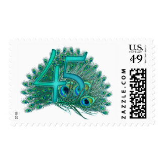 45th decorative artistic number stamps postage stamp