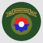 45th IPSD - 9th Infantry Classic Round Sticker