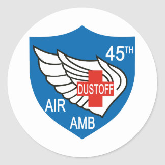 45th Medical Dustoff Patch Round Stickers