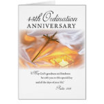 45th Ordination Anniversary, Cross Candle Greeting Card